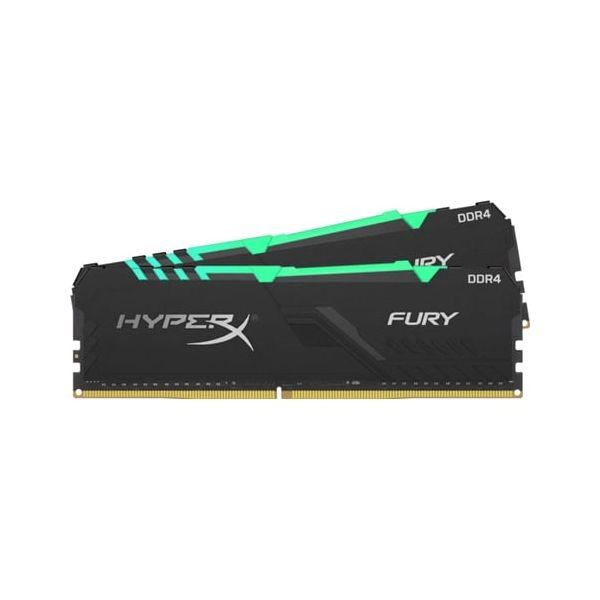 Memória RAM Kingston 32GB HyperX Fury 2x 16GB DDR4 3000MHz RGB CL15 - HX430C15FB3AK2/32
