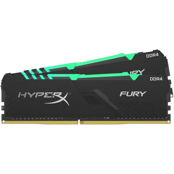 Memória RAM Kingston 16GB HyperX Fury 2x 8GB DDR4 2666MHz RGB CL16 - HX426C16FB3AK2/16