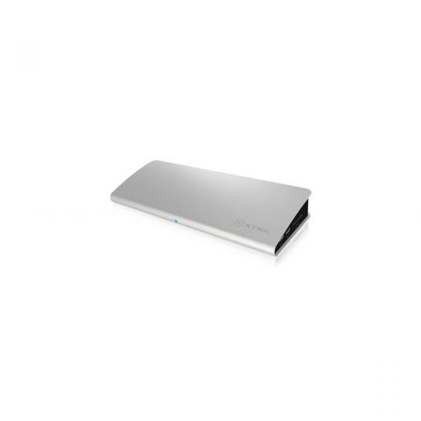 Icy Box Dockingstation DK2801 C-TB3 Silver 4xUSB-A 3.0, Sd, Lan, Hdmi, 2x Usb-c, Mini-dp, Dp - IB-DK2801-TB3