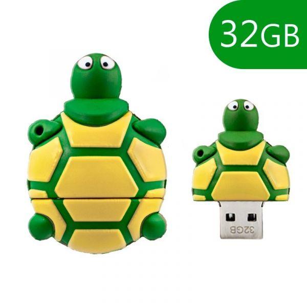 Pen Drive USB 32GB Silicone Tortuga