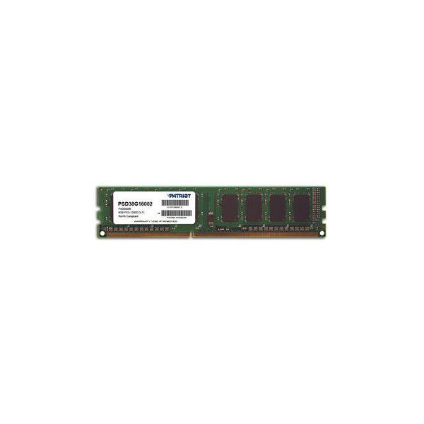 Memória RAM Patriot 8GB DDR3-1600 Black - PSD38G16002