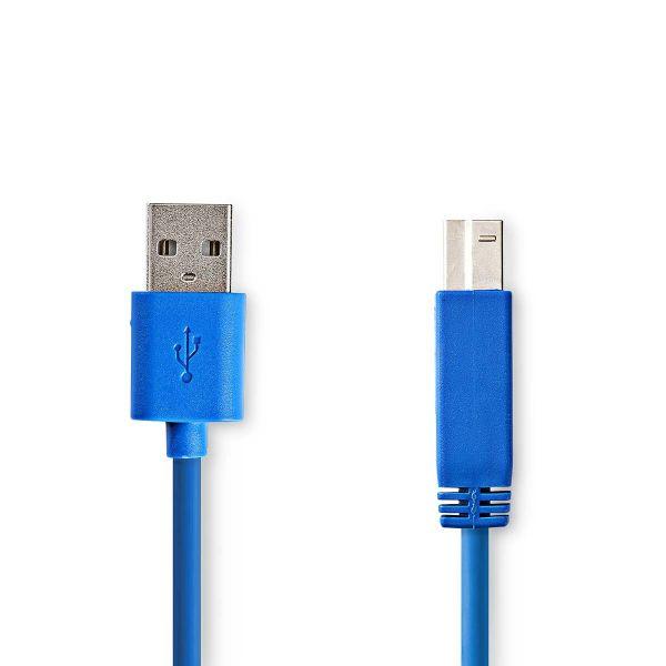 Nedis Cabo usb 3.0 usb B 2m Azul
