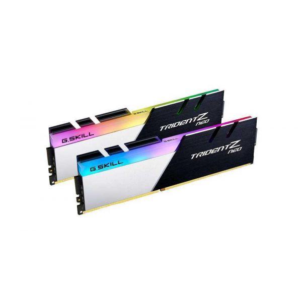 Memória RAM G.Skill 16GB Trident Z Neo RGB 2x 8GB DDR4-3200MHz CL16 Black F4-3200C16D-16GTZN