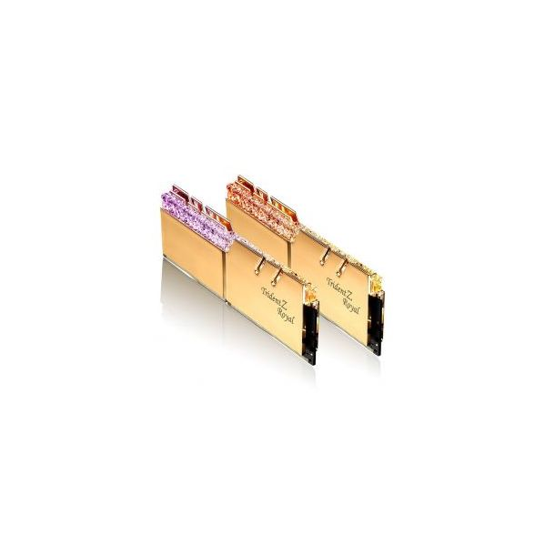 Memória RAM G.Skill 16GB Trident Z Royal RGB 2x 8GB DDR4 3600MHz CL14 Gold F4-3600C14D-16GTRGB