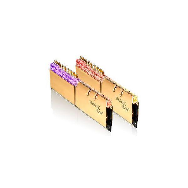 Memória RAM G.Skill 16GB Trident Z Royal RGB 2x 8GB DDR4 3600MHz CL16 Gold F4-3600C16D-16GTRGC