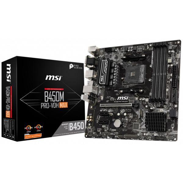 Motherboard MSI Micro-ATX B450M PRO-VDH Max 911-7A38-043