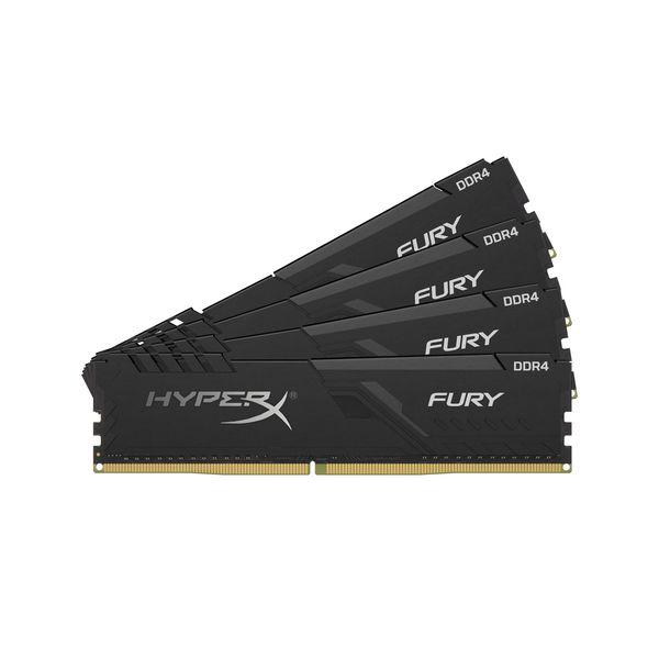 Memória RAM Kingston 32GB HyperX Fury Black (4x8GB) DDR4 3000Mhz PC-24000 CL15
