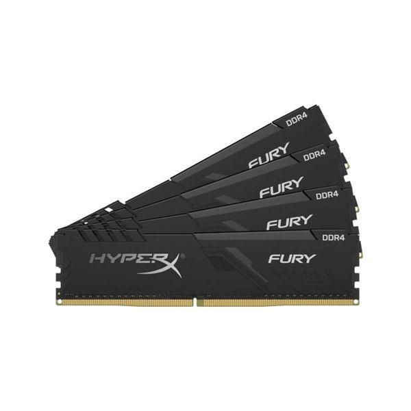 Memória RAM Kingston 32GB HyperX Fury Black (4x8GB) DDR4 3200Mhz PC-25600 CL16