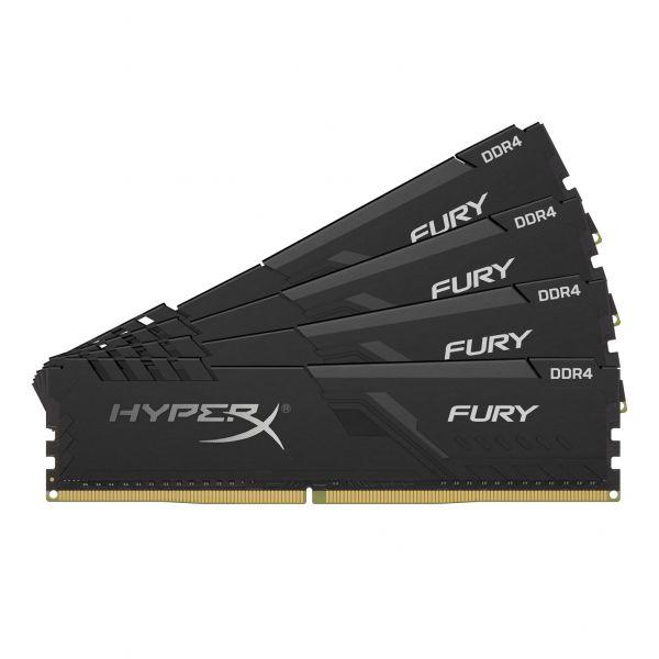 Memória RAM Kingston 64GB HyperX Fury Black (4x16GB) DDR4 2666Mhz PC-21300 CL16