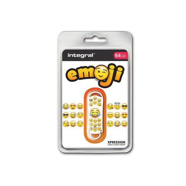 Integral Pen Drive Flash USB Xpression Emoji 64GB - 5623