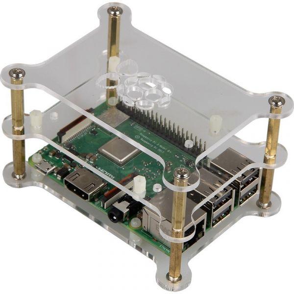 Caixa Dupla em Acrílico p/ Raspberry Pi 2/3/4B+ - RB-CASE+13