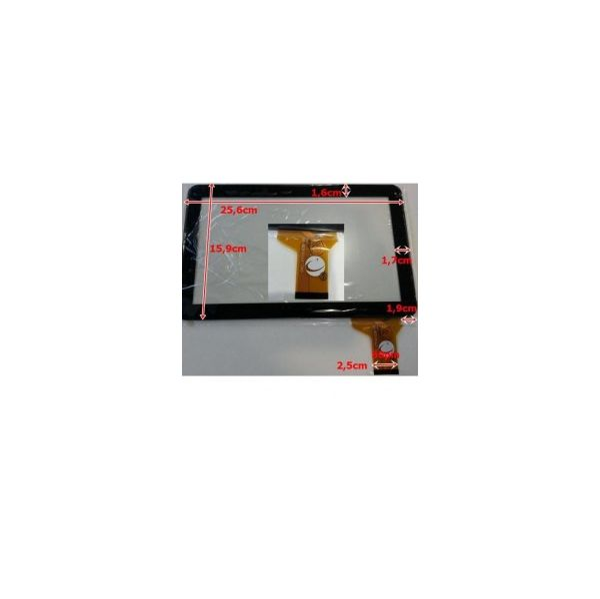 Touch para Tablet Universal 10.1' Black FM101301KA, CTP101008, WJ678-V2.0, WJ678-V3.0, FPC-DP100005-F1