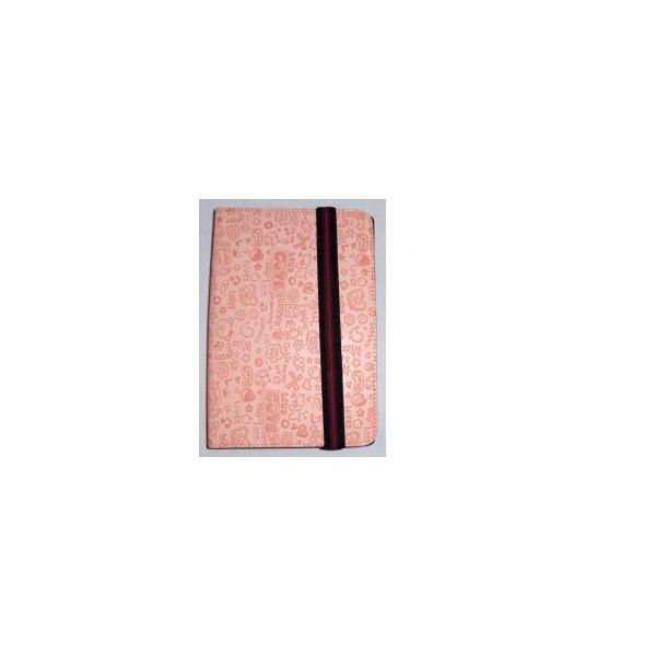 Capa Tablet Univ. 8' Design Rosa Claro Velcro