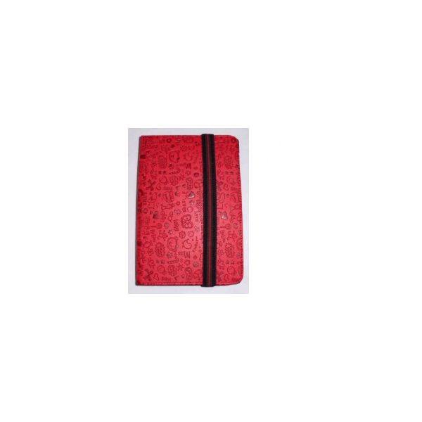 Capa Tablet Univ. 6' Design Vermelho Velcro