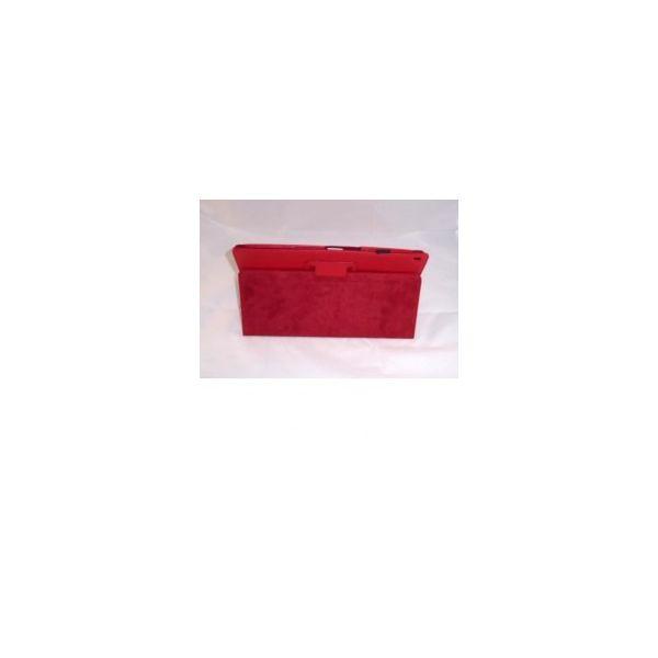 Capa de Pele para Tablet Xperia Z Vermelho