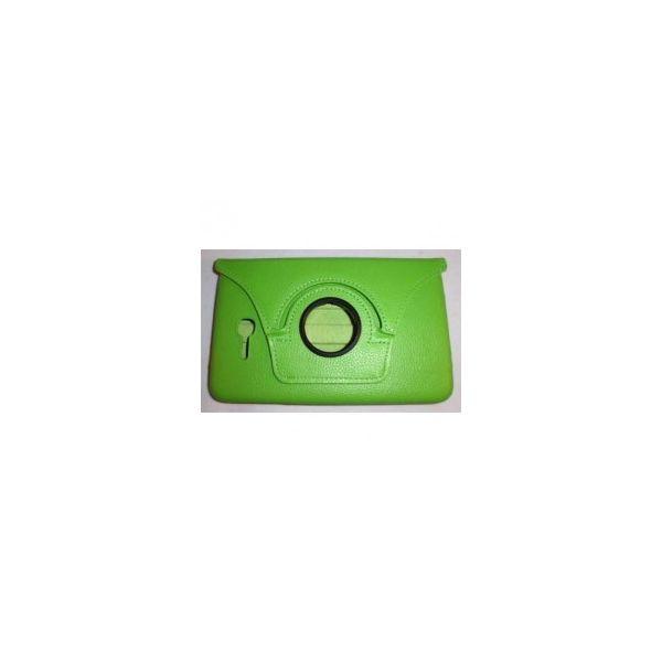 Samsung Galaxy Tab 3 Lite T110 Capa Couro Rotativa 360º Verde