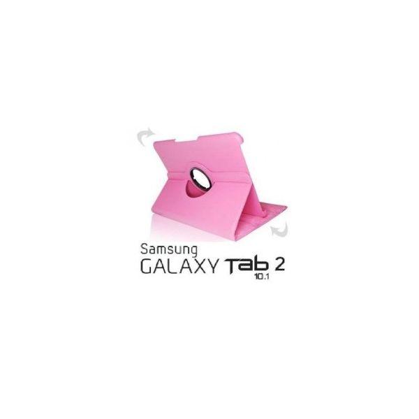 Samsung Galaxy TAB2 10.1 P5100 P5110 Capa Rotativa 360º Rosa