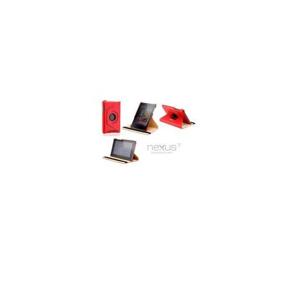 Capa Rotativa Asus Google Nexus 7' Touch para 360º Vermelho