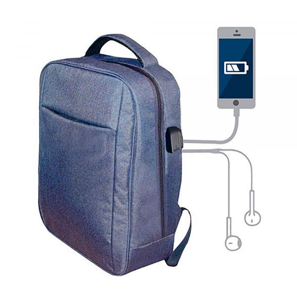 """Blaupunkt Mochila BLP0280 15"""" C/ Porta usb (azul) - BLP0280010116"""
