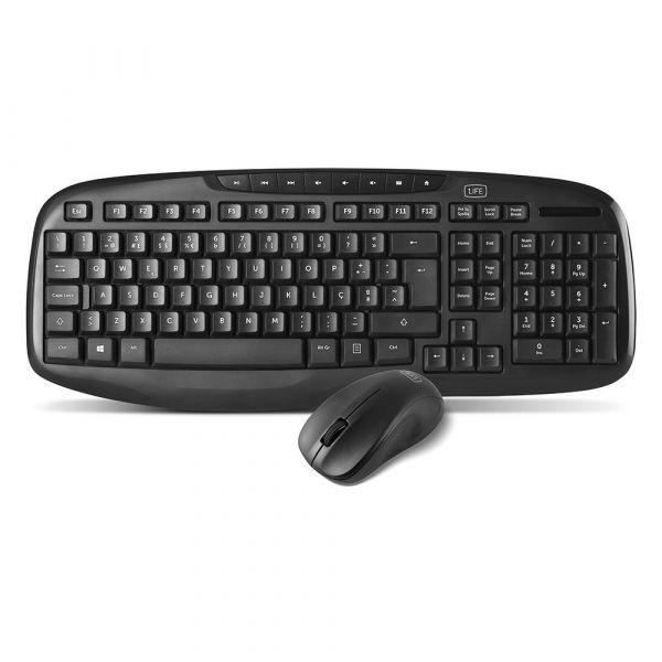 1Life Wireless Keyboard + Optical Mouse Kit