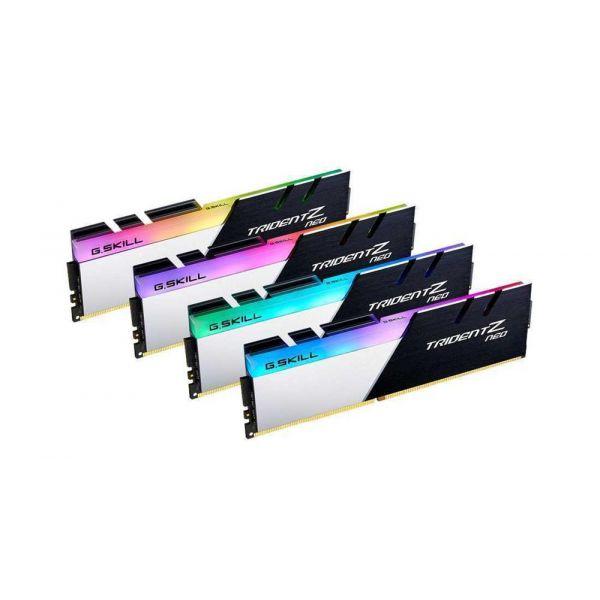 Memória RAM G.Skill 32GB Trident Z Neo RGB 4x8GB DDR4 3200 PC4-25600 CL14 - F4-3200C14Q-32GTZN