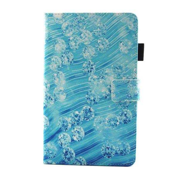 Capa Flip para Samsung Galaxy Tab A 8.0 T380 T385 Diamantes com Apoio e Suporte Cartões