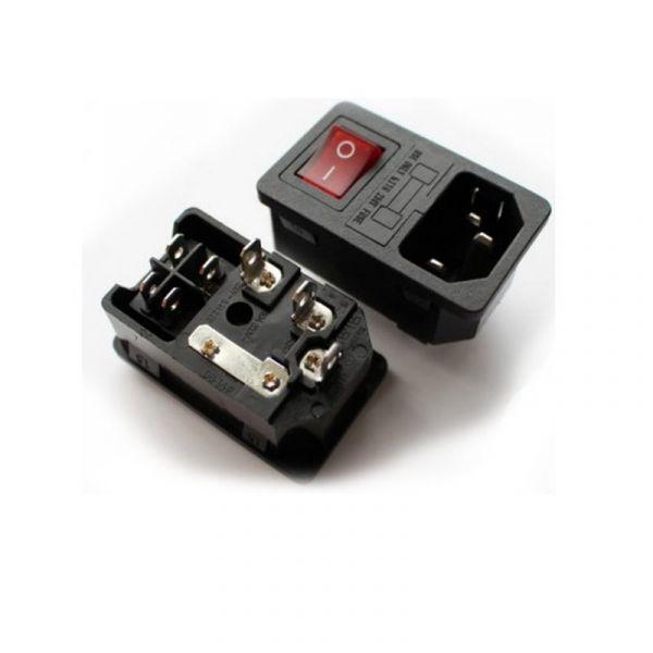 Conector de Corrente com Interruptor para Máquina Arcade - ARCTCI