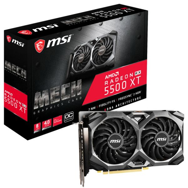 MSI Radeon RX 5500 XT Mech 8GB OC GDDR6 (PCI-E) - Compara ...
