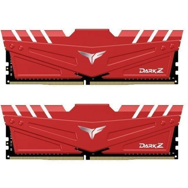 Memória RAM Team Group 32GB (2 x 16GB) DDR4 3200MHz Dark Z Red CL16 - TDZRD432G3200HC16C