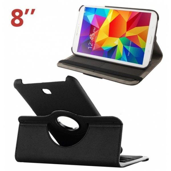 """Capa Samsung Galaxy Tab 4 8"""" (Samsung T330) Flip Book Preto em Bulk"""
