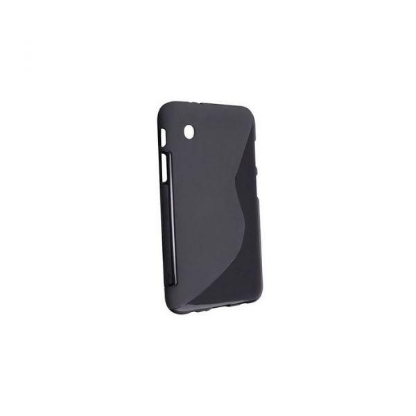 """Capa em Silicone """"S-CASE"""" Tablet Samsung P3100 Galaxy Tab 7.0 Preta Opaca"""