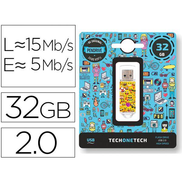 Tech One Pendrive 32GB Emojitech Emojis - 10480