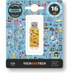 Tech One Pendrive 16GB Emojitech Emojis - 10420