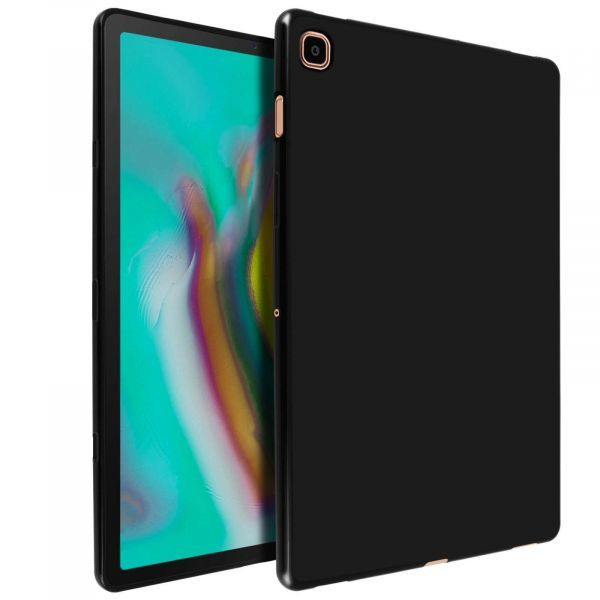 Avizar Capa Samsung Galaxy Tab S5e Silicone Flexível Antimarcas Preto TPU-FR-BK-T720