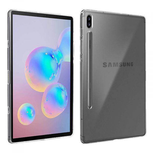 Avizar Capa Samsung Galaxy Tab S6 10.5 Silicone Flexível Antimarcas Transparente TPU-FR-CL-T860
