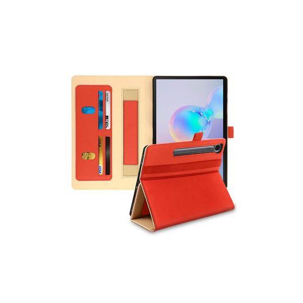 Avizar Capa Samsung Galaxy Tab S6 10.5 Livro Carteira com Fecho Magnético Vermelho FOLIO-PRO-RD-T860