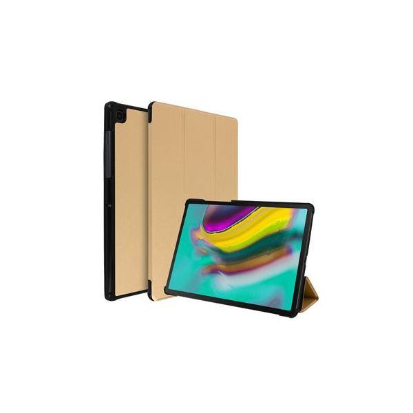 Avizar Capa Livro Samsung Galaxy Tab S5e Função de Suporte Dourado FOLIO-TRIF-GD-T720