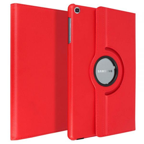 Avizar Capa Livro Samsung Galaxy Tab a 10.1 2019 Giratória F. Suporte Vermelho FOLIO-360-RD-T515