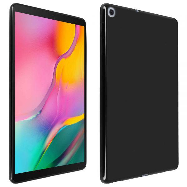 Avizar Capa Samsung Galaxy Tab a 10.1 2019 Silicone Flexível Antimarcas Preto TPU-FR-BK-T515