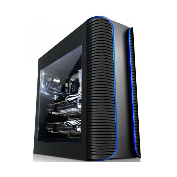 Matrixx PC7-1902 c/ Janela + Fonte 600W Black - PC71902