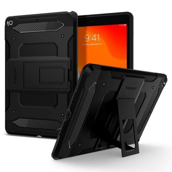 Capa Flip Tablet Ipad 10.2 2019 Spigen Tough Armor Tech Black