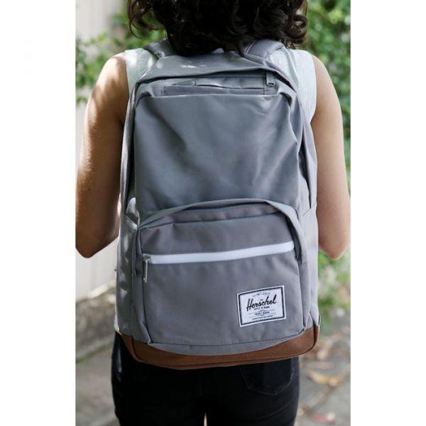 Herschel Supply Co. Pop Quiz Grey/tan Synthetic Leather