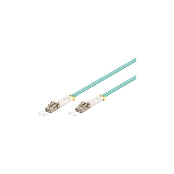 Wp Rack Fiber Optic Multimode Patch Cord ,50/125 Lc-lc, 2 Mt. OM3 ,lszh, Aqua Color - WPC-FP3-5LCLC-020