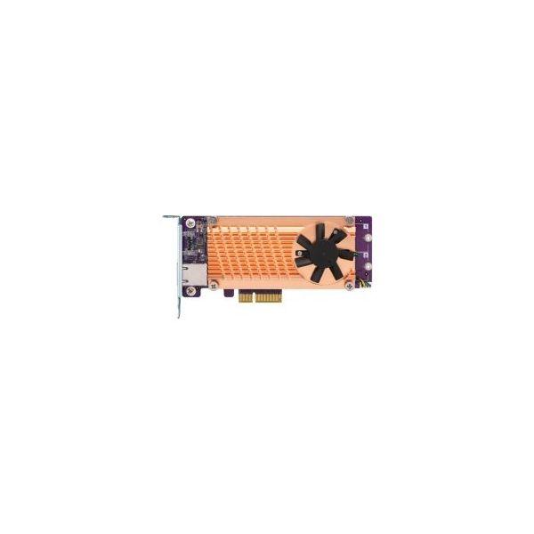 Qnap Dual M.2 Pcie Ssd+single Port 10GbE Expansions Card - QM2-2P10G1TA