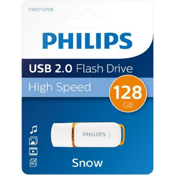Philips 128GB Pen Snow Edition Orange USB 2.0
