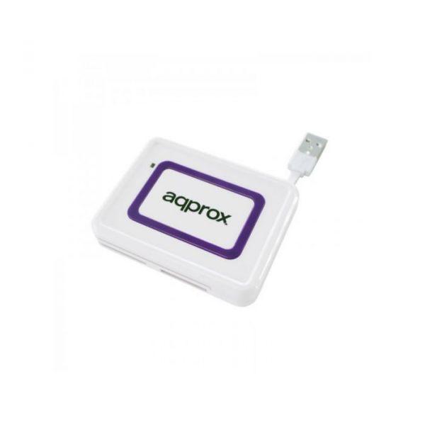 Approx Leitor de cartões externo APPCRDNIW USB 2.0 DNI Branco - S0203038