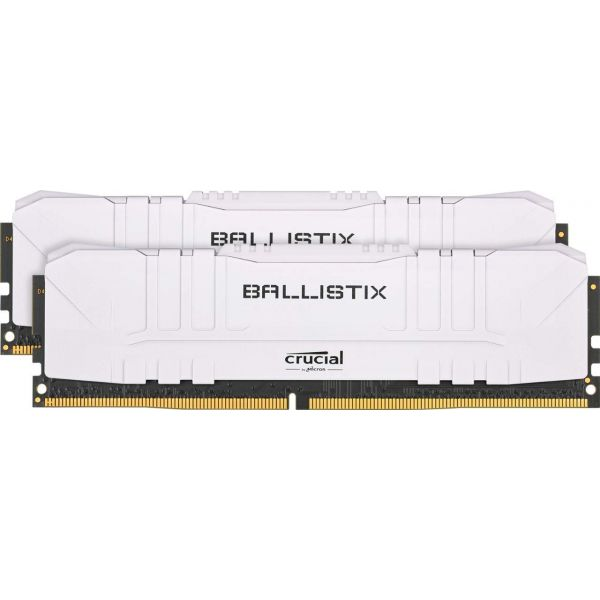 Memória RAM Crucial 16GB Ballistix Sport LT (2x8GB) DDR4 2666Mhz PC4-21300 CL16 White - BL2K8G26C16U4W