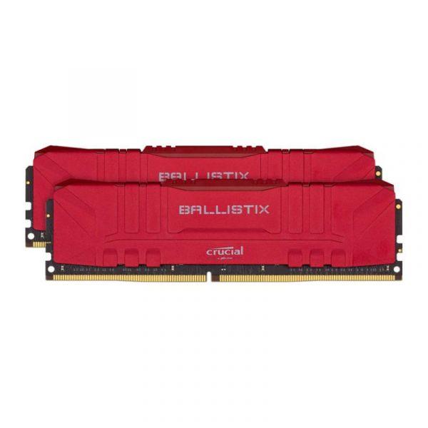 Memória RAM Crucial 16GB Ballistix Sport LT (2x8GB) DDR4 2666Mhz PC4-21300 CL16 Red - BL2K8G26C16U4R