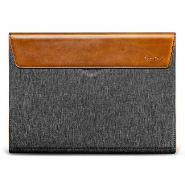 "Tomtoc Sleeve Premium para Macbook Pro 15"" Cinzento/castanho"