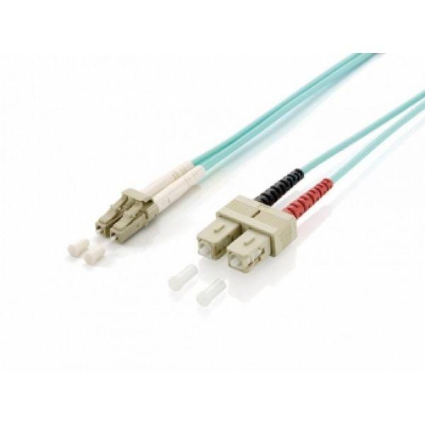 Equip Fibra Óptica Duplex Jumper LC/SC 50/125 2m Azul OM3 LSOH - 255312
